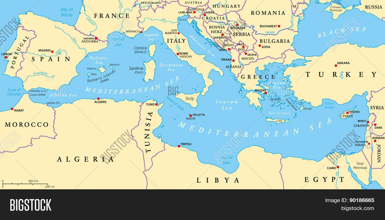 Mediterranean Sea Vector & Photo (Free Trial) | Bigstock