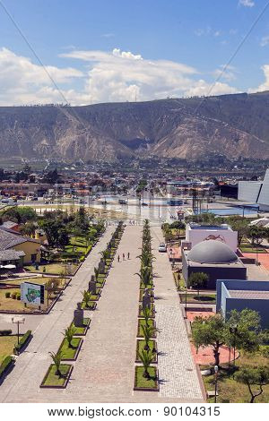 City Mitad Del Mundo Is The Town Where The Equator Line Pass, Ecuador