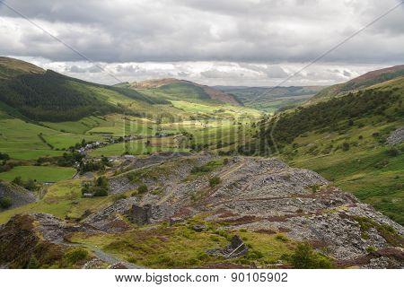 Cwm Penmachno, With Slate Quarry.