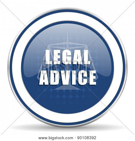 legal advice icon law sign  poster