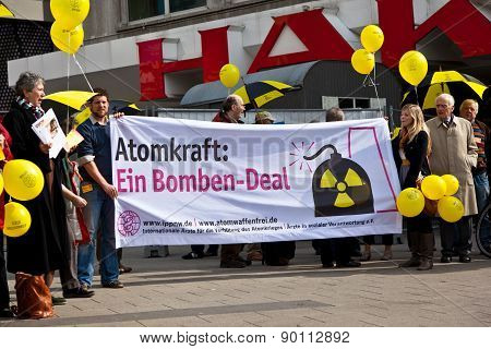 People Demonstrate For Shutting Down The German Nuclear Power Plants