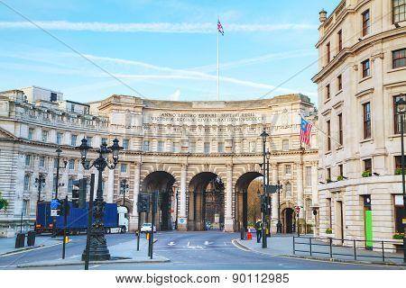 Admiralty Arch Near Trafalgar Square In London