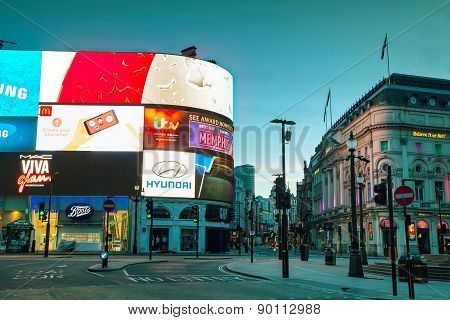 Piccadilly Circus Junction In London