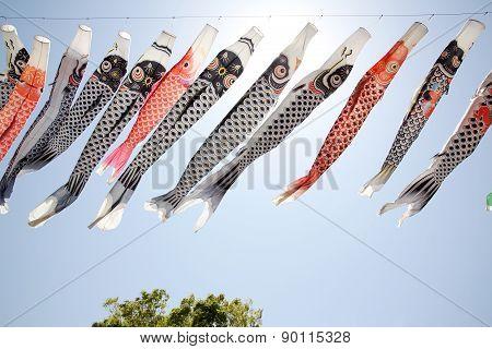Japanese carp kite streamer