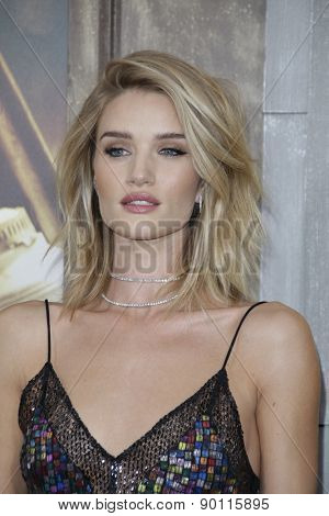 LOS ANGELES - MAY 7:  Rosie Huntington-Whiteley at the Mad Max: Fury Road Los Angeles Premiere at the TCL Chinese Theater IMAX on May 7, 2015 in Los Angeles, CA