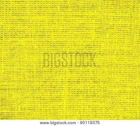 Cadmium yellow color burlap texture background