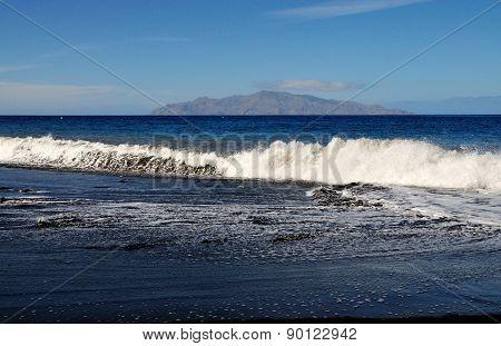Tidal Waves On A Beach