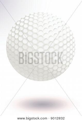 Golf ball vector illustration.