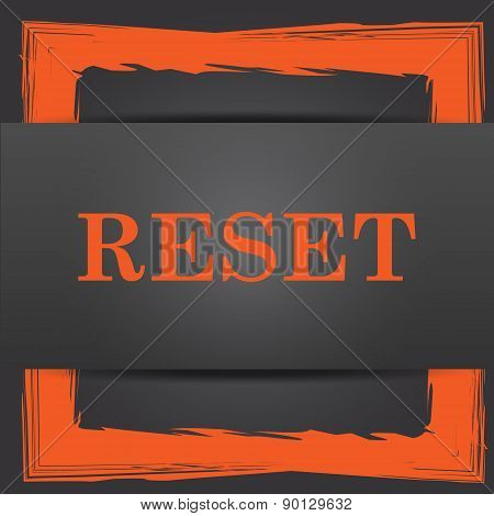 Reset icon. Internet button on grey background. poster