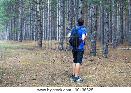 Boy With A Backpack