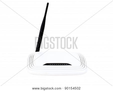 Wifi Router Isolated On White.
