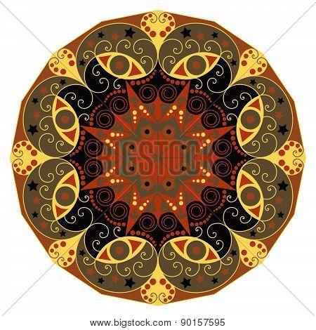 Round Ethnic Pattern