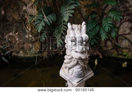 Dragon Head Sculpture Am Phu Cave Danang