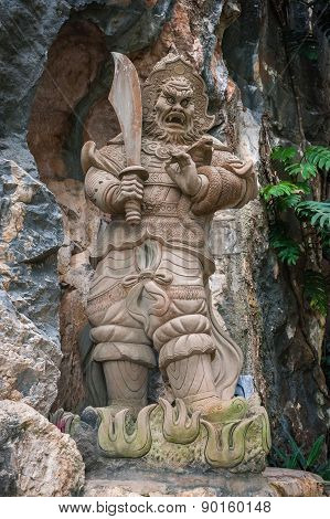 Evil Man Sculpture Am Phu Cave Danang