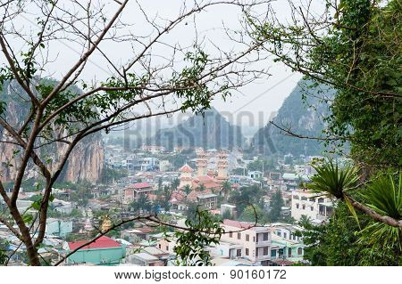 View On Danang Marble Town From Top Of Am Phu Cave Vietnam