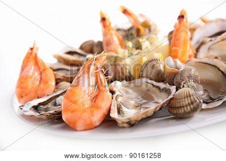 platter of seafood