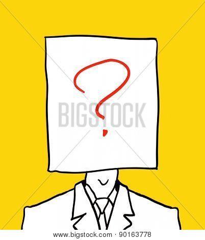 no user profile picture. hand drawn illustration