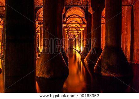 Basilica Cistern, Turkey. Istanbul.