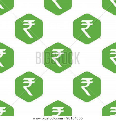 Indian rupee pattern