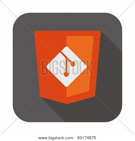 vector illustration web development shield sign showing programming process icon version control sys