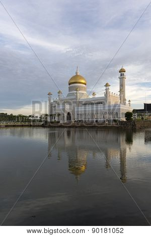 Sultan Omar Ali Saifuddien Mosque is an Islamic mosque located in Bandar Seri Begawan the capital of the Sultanate of Brunei. poster