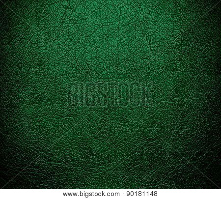 Cadmium green color leather texture background