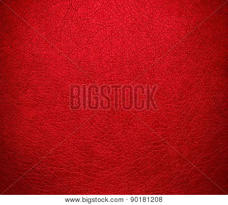 Cadmium red color leather texture background