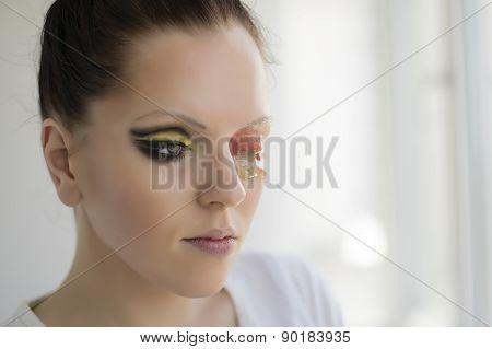 Beautiful One-eyed Brunette