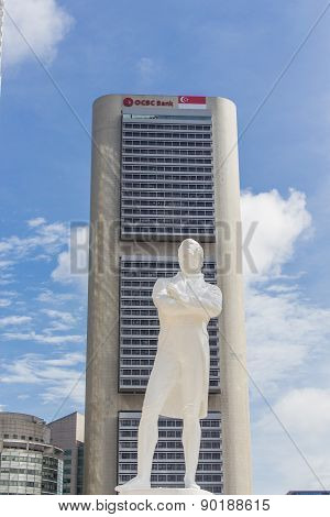 Stamford Raffles Statue In Singapore