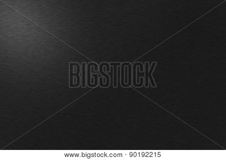 Black Metal Background With Left Lights
