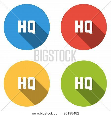 Collection Of 4 Isolated Flat Colorful Buttons For Hq (high Quality)