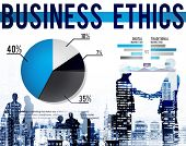 Business Ethics Moral Policies Awareness Marketing Concept poster