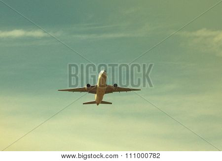 Vintage Styrle Photo Of The Airplane