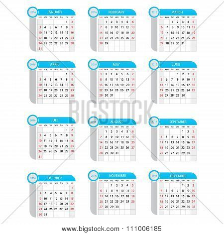 Modern Vector Illustration Of Calendar