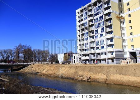 Construction Of New Multistorey Modern House
