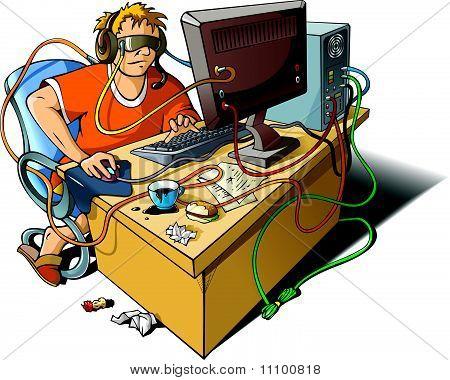 Computer addiction