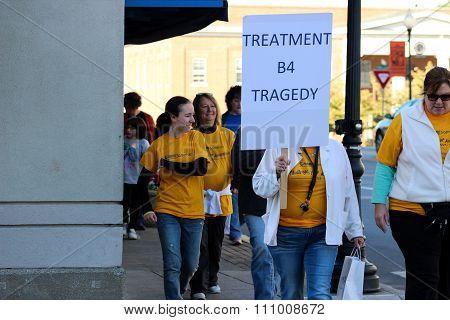 People Participating in NAMI Walk in Somerset, Kentucky