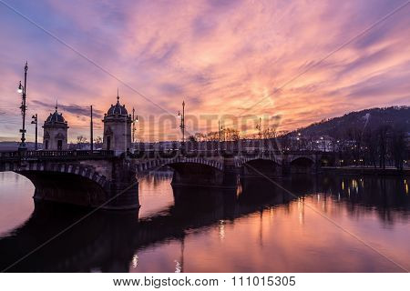 Legion Bridge And River Vltava In Prague