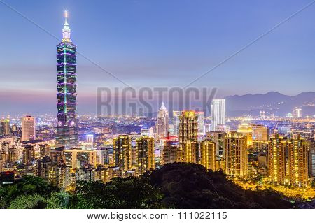 Taipei, Taiwan - Circa August 2015: Taipei 101 Or Taipei Wtc Tower In Taipei,  Taiwan