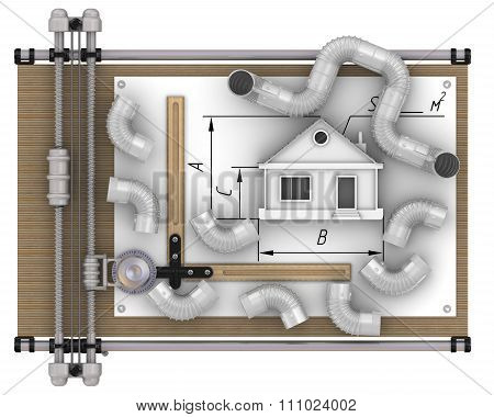 Calculation of ventilation of the house