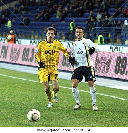 Metalist Kharkiv Vs. Metallurg Donetsk Football Match