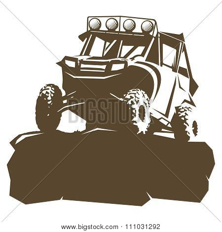 Vector Utility Vehicle silhouette illustration