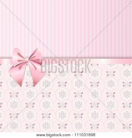 Rose Quartz Flower Seamless Pattern