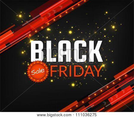 Black Friday sale banner design template. Black Friday vector illustration for poster, tag flyer