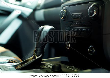 Modern Car Interior, Close Up Photo.selective Focus.
