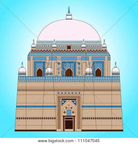 The mausoleum of the Sufi saint Shah Rukn-e-Alam, which is located in Multan, Pakistan poster