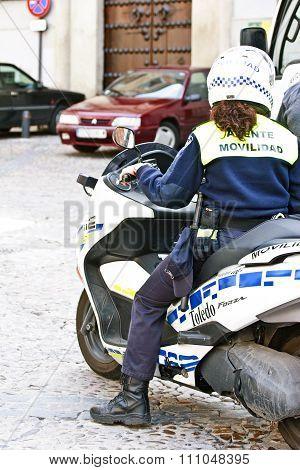 Toledo, Spain - Police In Action