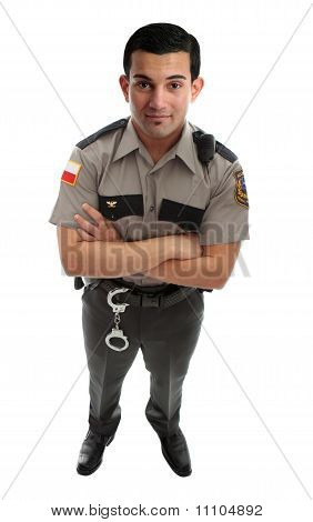 Prison Guard Warden Or Policeman