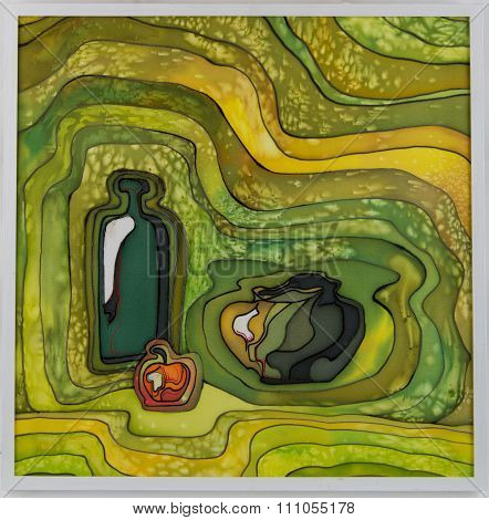 abstract art a picture in equipment a batic