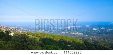 Panoramic Coastal Landscape Of Corsica Island